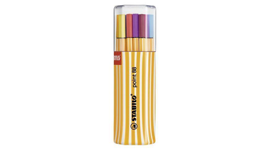 STABILO® Fineliner - STABILO point 88 - 20er Big point Box zufällig in einer der 3 Farben  - mit 20 verschiedenen Farben