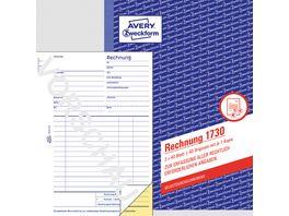 AVERY Zweckform Rechnung 1730 1 und 2 Blatt bedruckt SD DIN A5