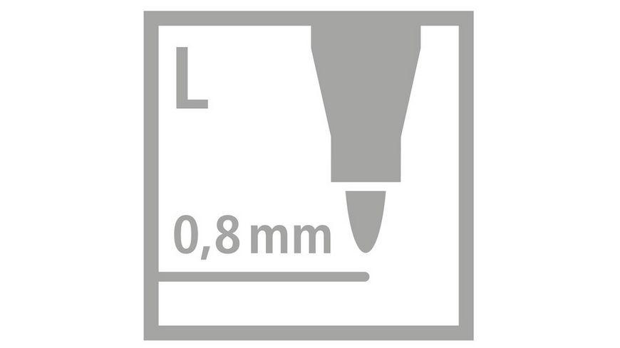 STABILO Fasermaler GREENpoint 6er Etui