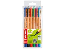 STABILO Umweltfreundlicher Filzschreiber STABILO GREENpoint 6er Pack mit 6 verschiedenen Farben