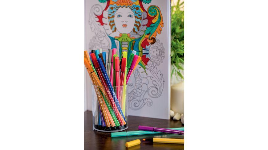 STABILO Premium Filzstift Pen 68 im 10er Kunststoffetui