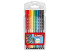 STABILO Premium Filzstift STABILO Pen 68 10er Pack mit 10 verschiedenen Farben