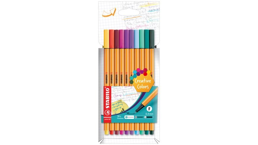 STABILO Fineliner point 88 Fashion 10er Etui