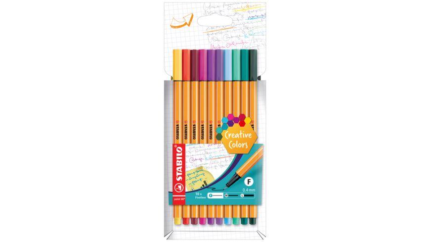 STABILO® Fineliner - STABILO point 88 - 10er Pack - Sonderfarben