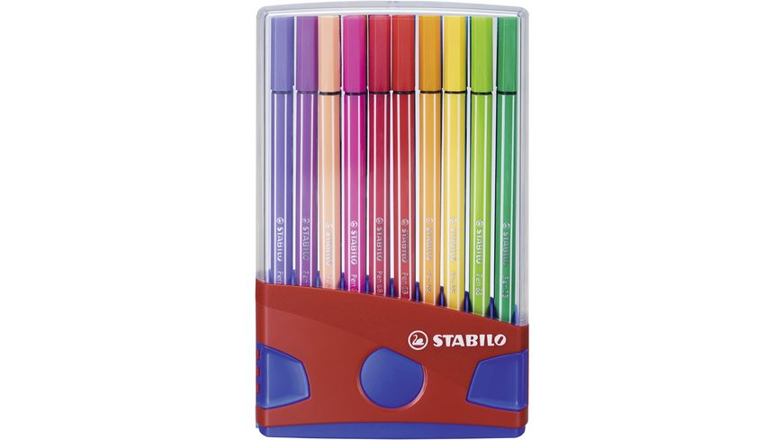 STABILO Premium Fasermaler Pen 68 ColorParade 20er-Klappbox