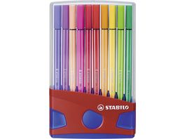 STABILO Premium Fasermaler Pen 68 ColorParade 20er Klappbox