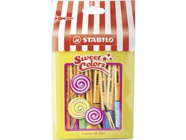 STABILO Fineliner point 88 Mini Sweet Colors 15er Beutel