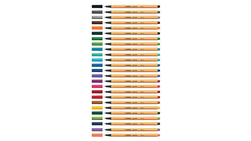 STABILO Fineliner point 88 Rollerset 25er Etui