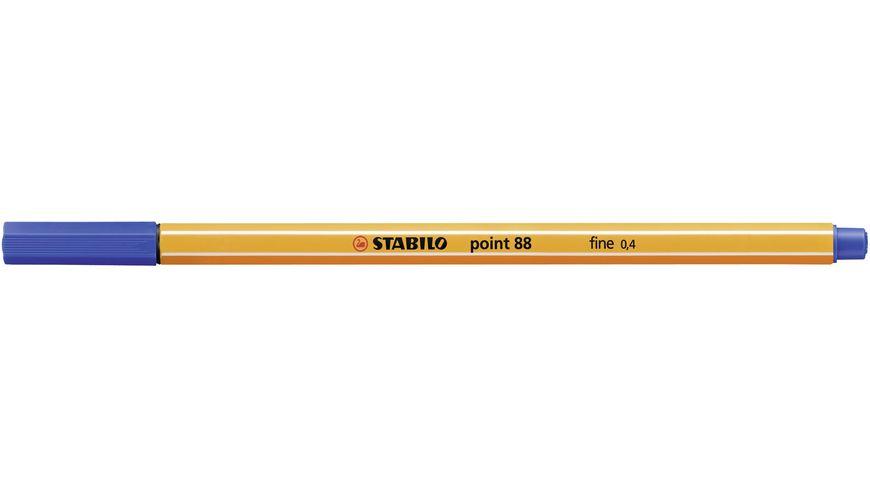 STABILO Fineliner point 88 Rollerset 25er Etui