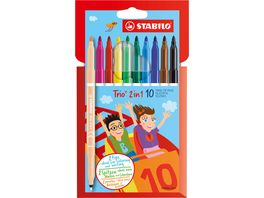 STABILO Stift Trio 2in1 10er Etui