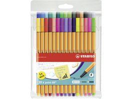 STABILO point 88 mit 30 verschiedenen Farben inklusive 5 Neonfarben