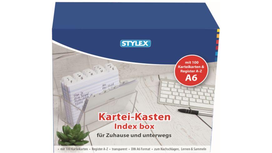 STYLEX Karteikasten DIN A6