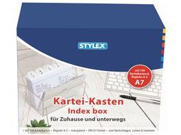 STYLEX Karteikasten DIN A7