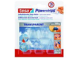 tesa Powerstrips transparent Deco Haken