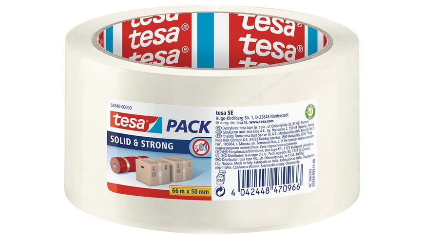 tesapack®  SOLID & STRONG transparent