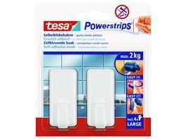 tesa Powerstrips Haken Large Classic weiss
