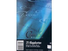 ClassicLINE Doppelkarten A6 DL Bankpost weiss 25 Stueck
