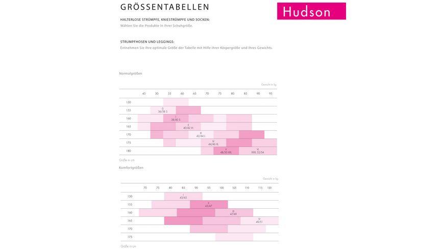Hudson Damen Kniestruempfe Simply 40 DEN 2er Pack