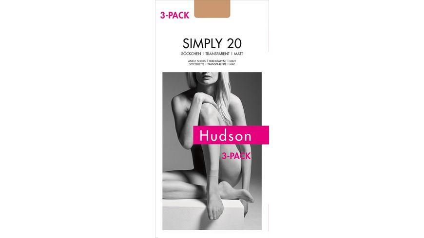 Hudson Damen Soeckchen Simply 20 DEN 3er Pack