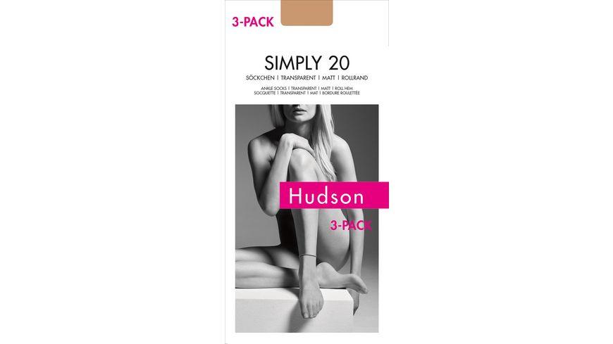 Hudson Soeckchen mit Rollrand Simply 20 3er Pack