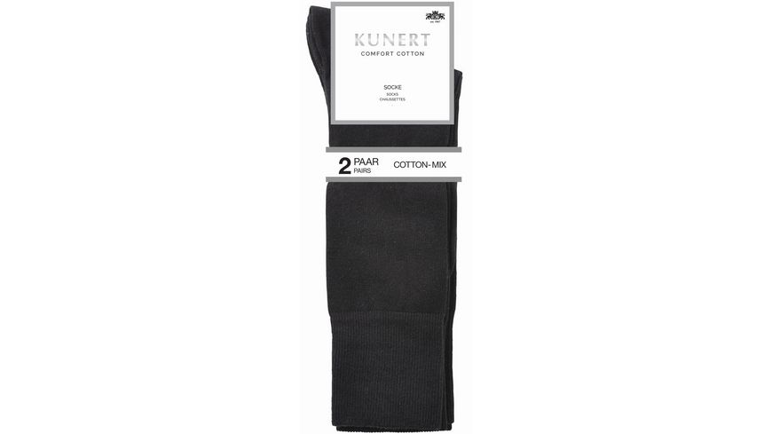 KUNERT Herrensocken Comfort Cotton 2er Pack