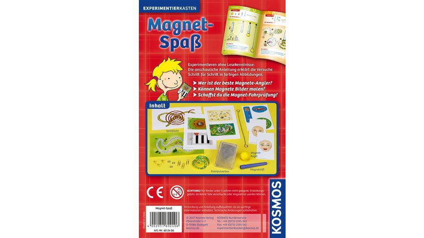 KOSMOS Experimentierkaesten Magnet Spass