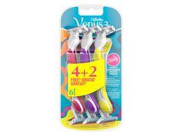 Gillette Venus3 Einwegrasierer fuer Frauen 4 2 Pack