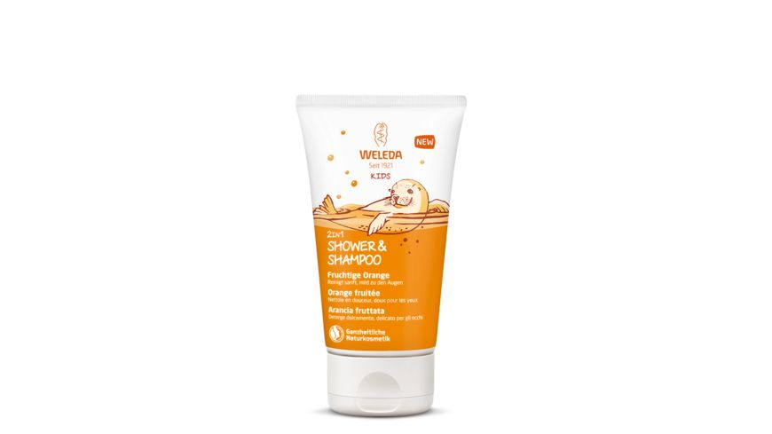 WELEDA Kids Shower Shampoo 2in1 Fruchtige Orange