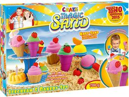 CRAZE Magic Sand Icecream und Bakery Set 700 g