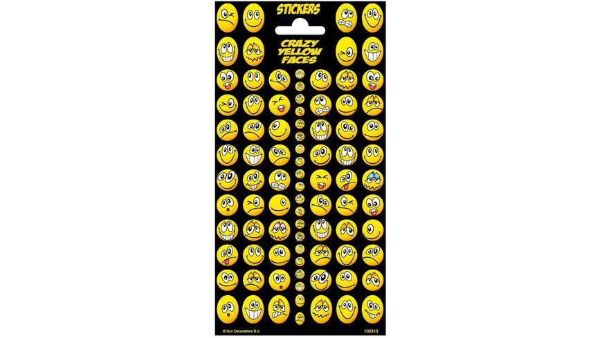 Leykam Alpina Sticker Crazy Yellow Faces