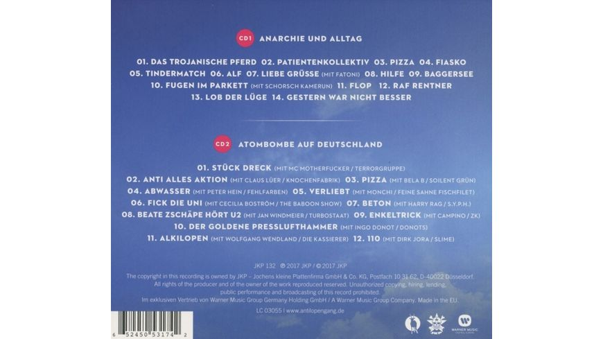 Anarchie Und Alltag Bonusalbum Atombombe Auf Deuts