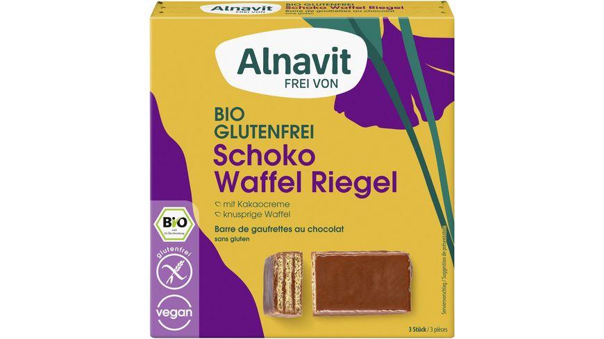 Alnavit Bio Schoko Waffel Riegel - glutenfrei