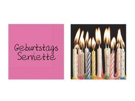 la vida Serviette Geburtstag 20 Stk