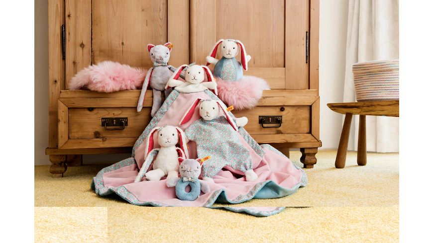 Steiff Blossom Babies Hase Schmusetuch