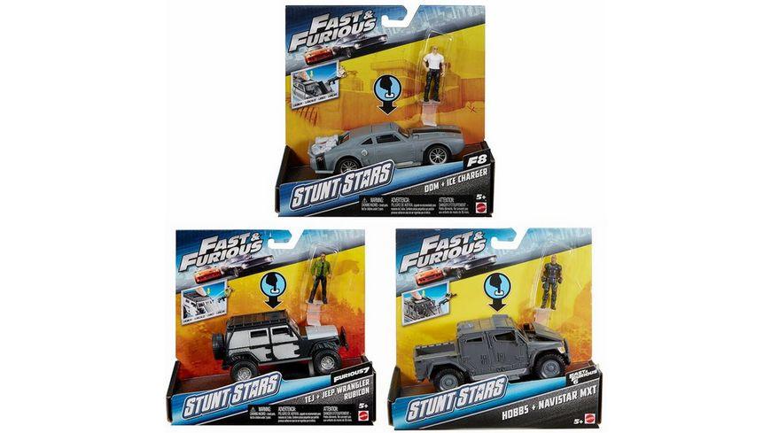 Mattel Fast Furious Stunt Stars Figur Auto sortiert
