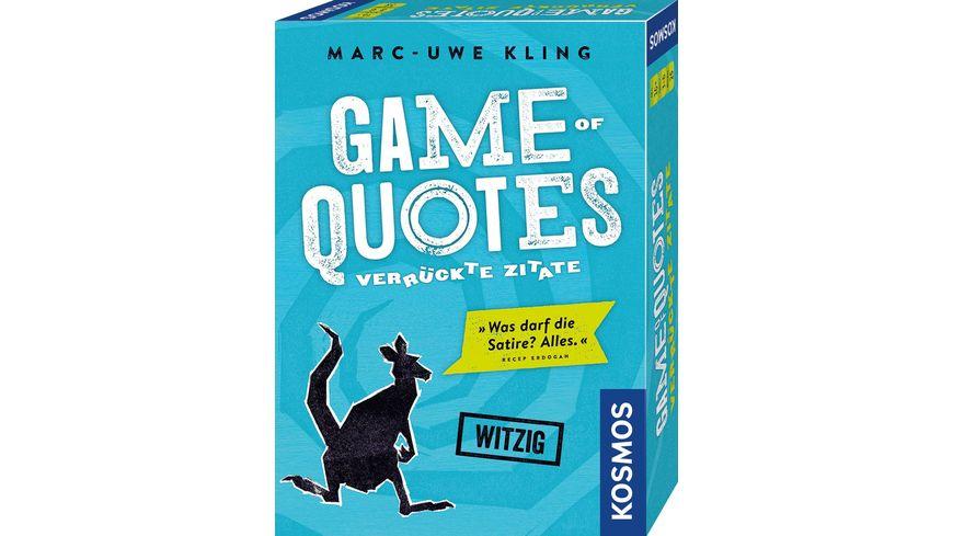 KOSMOS Game of Quotes Verrueckte Zitate