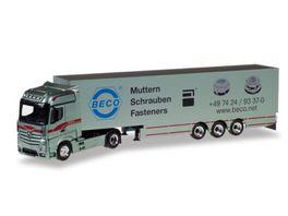 Herpa 307055 Mercedes Benz Actros Bigspace Koffer Sattelzug Bagemuehl