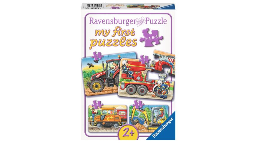Ravensburger Puzzle my first Puzzle Bei der Arbeit 8 Teile
