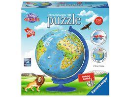 Ravensburger Puzzle 3D Puzzle Ball Kinderglobus in deutscher Sprache 180 Teile