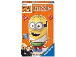 Ravensburger Puzzle 3D Puzzles Shaped Minion Despicable Me 3 Motiv 3 54 Teile
