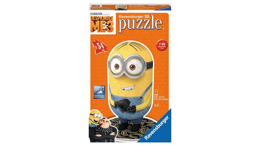 Ravensburger Puzzle 3D Puzzles Shaped Minion Despicable Me 3 Motiv 1 54 Teile
