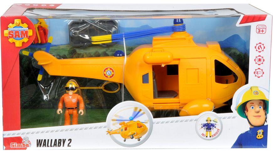 Simba Feuerwehrmann Sam Sam Hubschrauber Wallaby II mit Figur