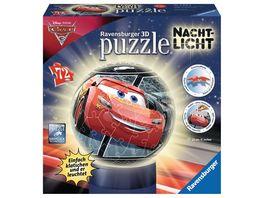 Ravensburger Puzzle 3D Puzzles Nachtlicht Cars 3 72 Teile
