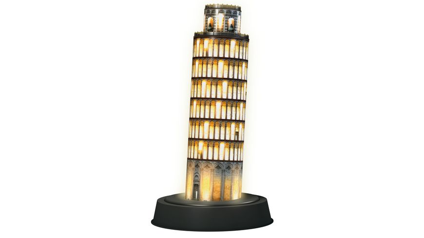 Ravensburger Puzzle 3D Puzzles Schiefer Turm von Pisa bei Nacht 216 Teile
