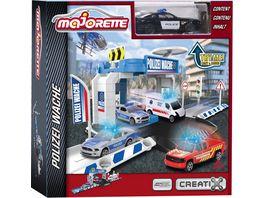 Majorette Creatix Police Station