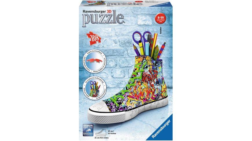 Ravensburger Puzzle 3D Puzzles Sneaker Graffiti Style 108 Teile