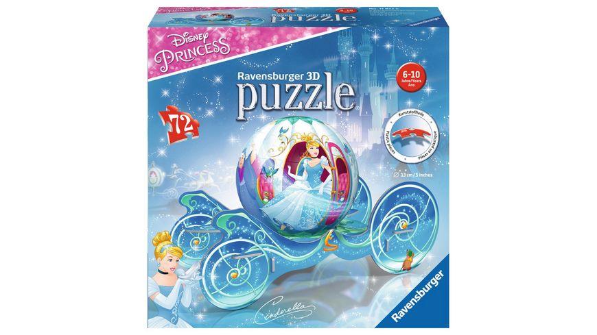 Ravensburger Puzzle 3D puzzleball Prinzessinnen Kutsche 72 Teile