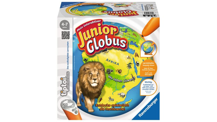 Ravensburger tiptoi Mein interaktiver Junior Globus