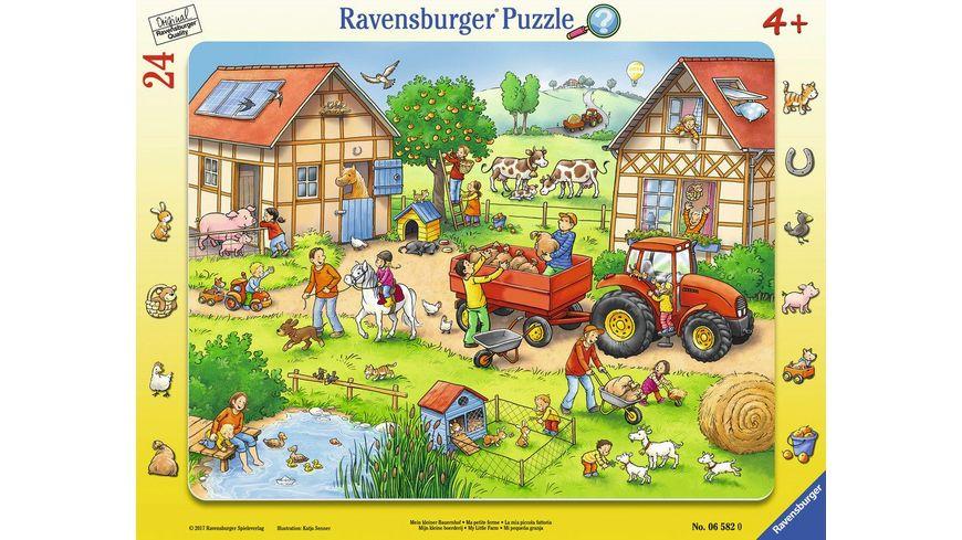 Ravensburger Puzzle Rahmenpuzzle Mein kleiner Bauernhof 24 Teile