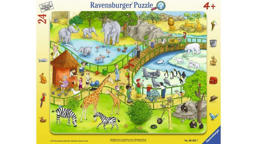 Ravensburger Puzzle Rahmenpuzzle Viel Spass im Zoo 24 Teile
